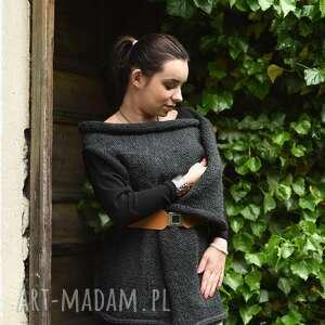 trendy kamizelki sweter na drutach szara kamizelka na