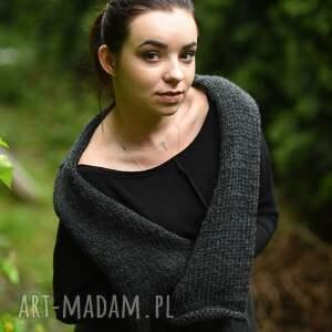 kamizelki sweter na drutach szara kamizelka na