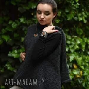trendy kamizelki wełniana kamizelka szara sweter na drutach