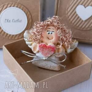 ręcznie wykonane kartki anioł aniołek stróż z kartką w mini