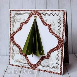 pomysł na prezenty święta kartki choinki, choinki - komplet kartek