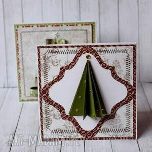 pomysł na prezenty święta choinki, choinki - komplet kartek
