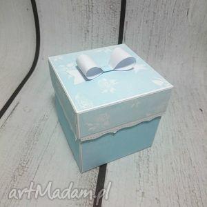 kartki chrzest eksplodujące pudełeczko