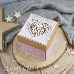 kartki pamiątka chrztu eksplodujące pudełeczko z aniołkiem