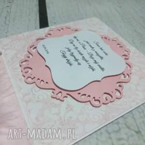 różowe kartki eksplodujące pudełeczko - kartka