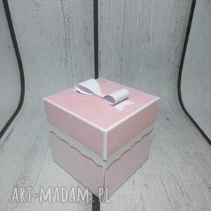 różowe kartki komunia exploding box / eksplodujące