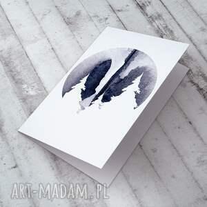 prezent świąteczny góry - karteczka na świąteczne