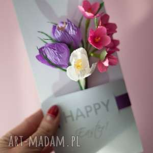 unikalne kartki happy luxury 3d easter card in a box, personalized