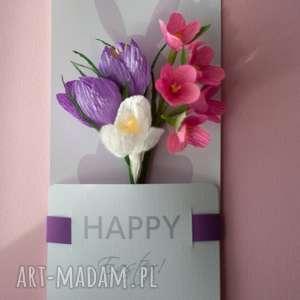 różowe kartki easter happy