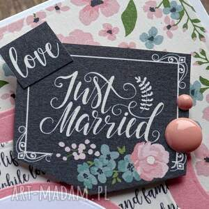wyraziste kartki shabby-chic just married