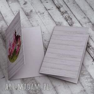zielone kartki kwiaty karteczka na życzenia