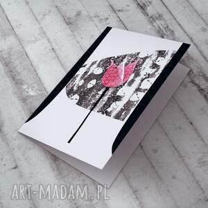 urokliwe kartki kartka karteczka z tulipanem
