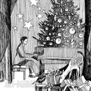 upominki świąteczne karteczka zdobiona autorską