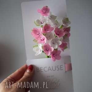 kartki flowers karteczki 3d dla mamy