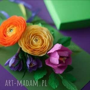 zielone kartki matki karteczki 3d dla mamy. na dzie&#324