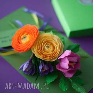 dzień kartki luxury flower gift box for mom, paper bouquet