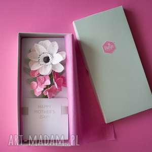 intrygujące kartki super happy mothersday, paper flowers 3d card