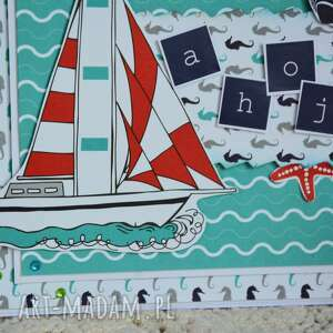 ręczne wykonanie kartki kartka dla żeglarza / podróżnika