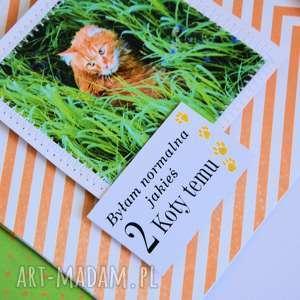 kartka kartki - byłam normalna 2 koty