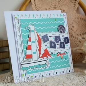 kartka kartki białe dla żeglarza / podróżnika
