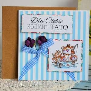 intrygujące kartki stempel kartka - dla ciebie kochany tato
