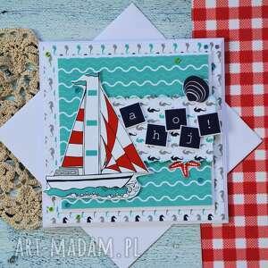 ręczne wykonanie kartki urodziny kartka dla żeglarza / podróżnika