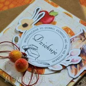 kartki pomarańcze kartka - dziękuję