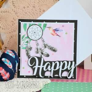 Maly Koziolek czarne kartki szczęśliwa kartka - happy (1)