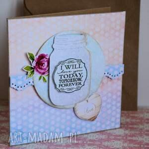 kartka kartki białe - i will love you today