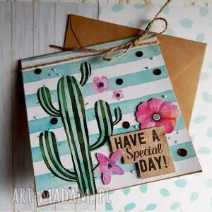 niepowtarzalne kartki kaktus kartka kaktusowy dzie&#324