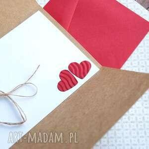 ślub kartki czerwone kartka - kopertówka:: ludziki::