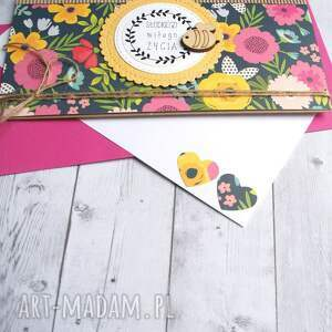 kartka kopertówka - słodkiego miłego życia - ślubna ślub