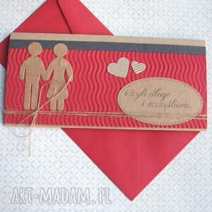 ręcznie zrobione kartki ślub kartka - kopertówka:: ludziki::