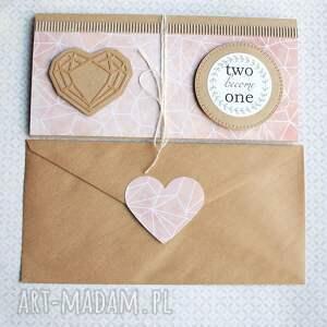 ręcznie zrobione kartki ślub kartka - kopertówka:: geometric