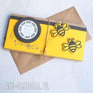 gustowne kartki ślub kartka - kopertówka:: pszczółki