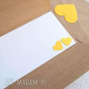 ślub kartki żółte kartka - kopertówka