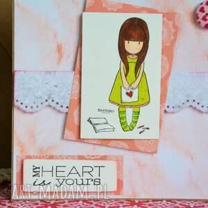 ciekawe kartki stempel kartka - my heart is yours (moje