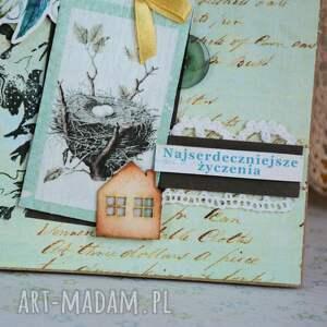 Maly Koziolek kartki: Kartka - Najserdeczniejsze życzenia - Hand Made