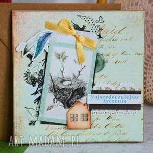 Maly Koziolek kartki: Kartka - Najserdeczniejsze życzenia - Hand Made parapetówka