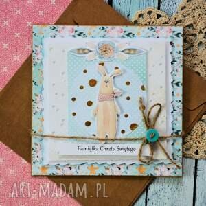 dziecko kartki kartka - pamiątka chrztu świętego (