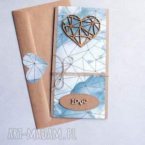 niepowtarzalne kartki ślub kartka ślubna: geometric heart