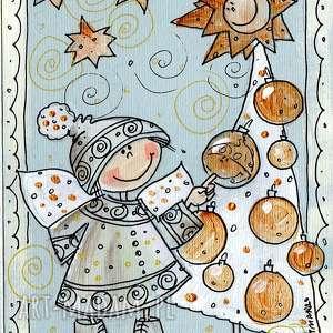 pomysł co pod choinkę pocztówka kartka świąteczna 4 5