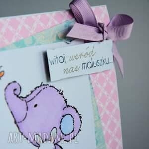 modne kartki dziecko kartka - witaj wśród nas maluszku