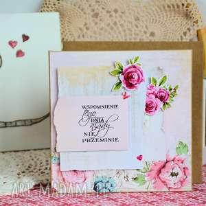 białe romantyczna kartka - wspomnienie tego dnia - (