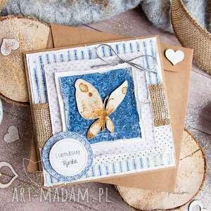 urokliwe kartki dla niej kartka z motylem, w kopercie