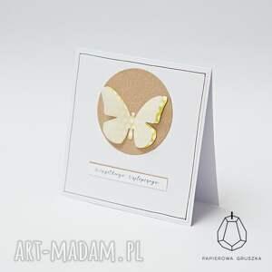 wyjątkowe kartka z motylkiem
