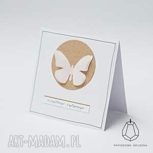 różowe kartki urodzinowa kartka z motylkiem