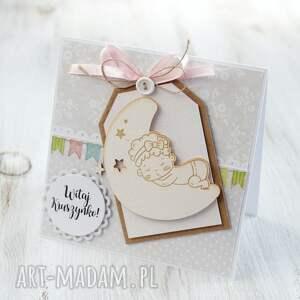 eleganckie kartki kartka z okazji narodzin, chrztu