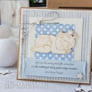 brązowe kartki dziecko kartka z okazji narodzin, chrztu