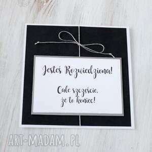 modne kartki prezent kartka z okazji rozwodu